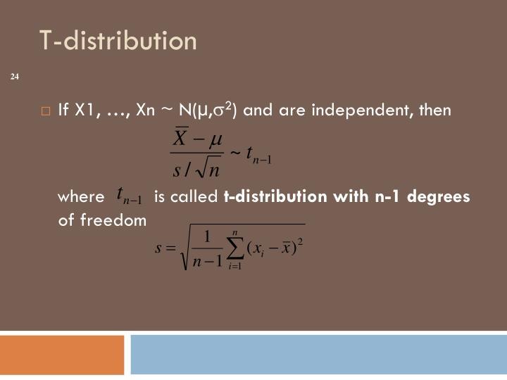 If X1, …, Xn ~ N(µ,