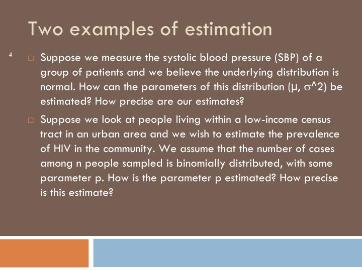 Suppose we measure the systolic blood pressure (SBP) of a group of patients and we believe the underlying distribution is normal. How can the parameters of this distribution (µ,