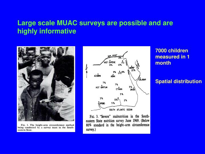 Large scale MUAC surveys are possible and are highly informative