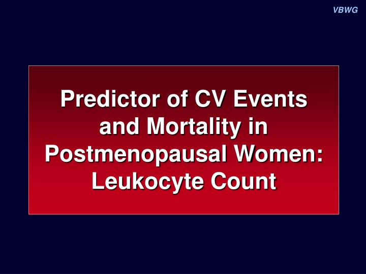 Predictor of CV Events