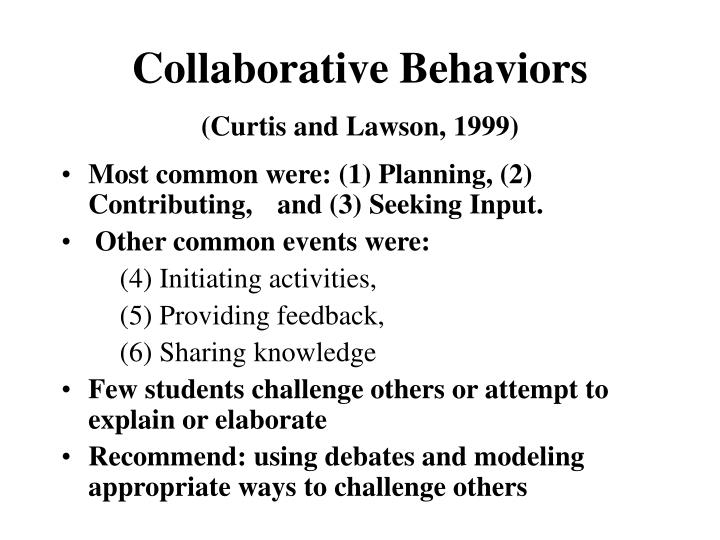 Collaborative Behaviors