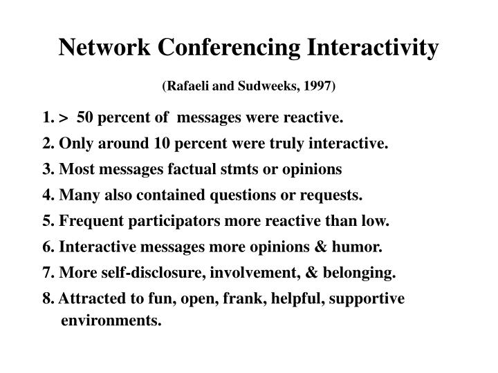 Network Conferencing Interactivity
