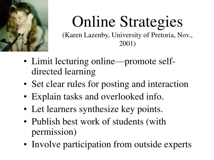 Online Strategies