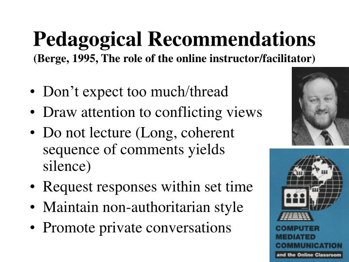 Pedagogical Recommendations