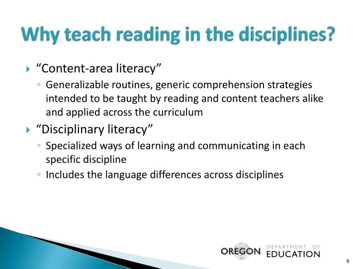 Why teach reading in the disciplines?