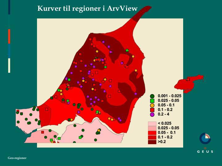 Kurver til regioner i ArvView