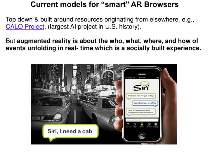 "Current models for ""smart"" AR Browsers"