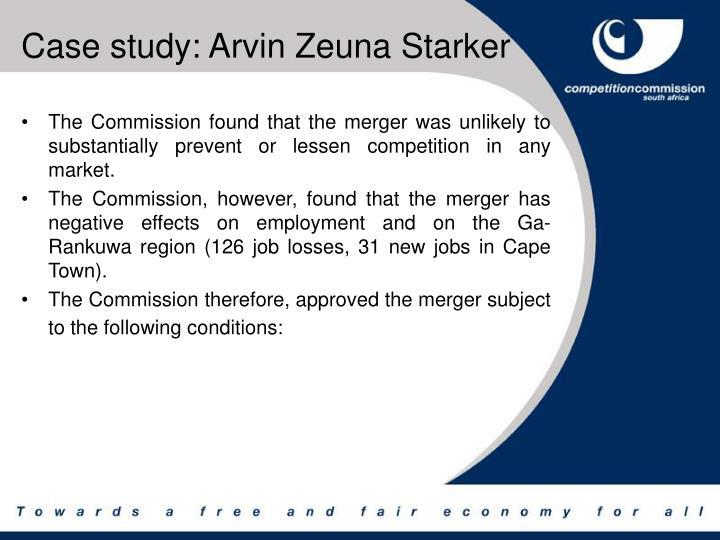 Case study: Arvin Zeuna Starker