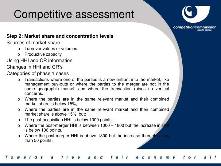 Competitive assessment