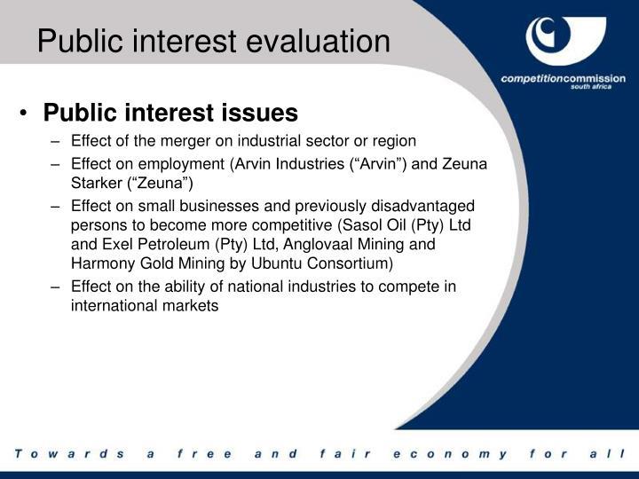 Public interest evaluation