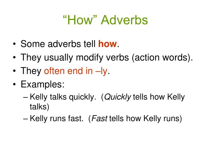 """""""How"""" Adverbs"""