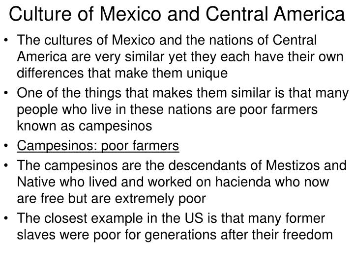 Culture of mexico and central america