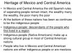 heritage of mexico and central america
