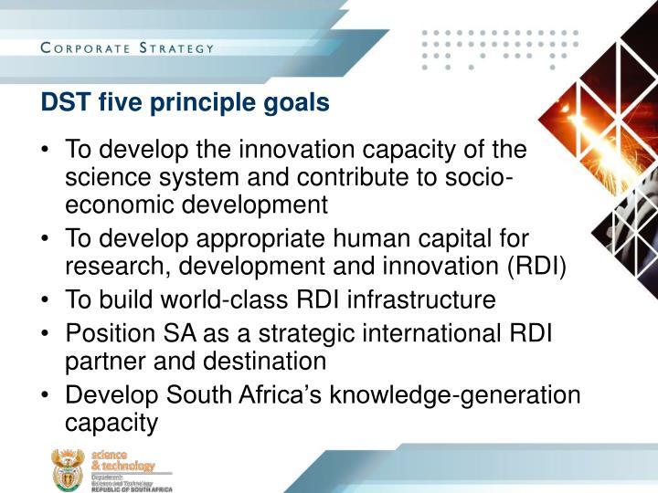 DST five principle goals