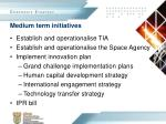 medium term initiatives