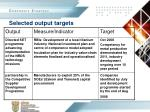 selected output targets2