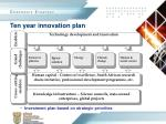ten year innovation plan