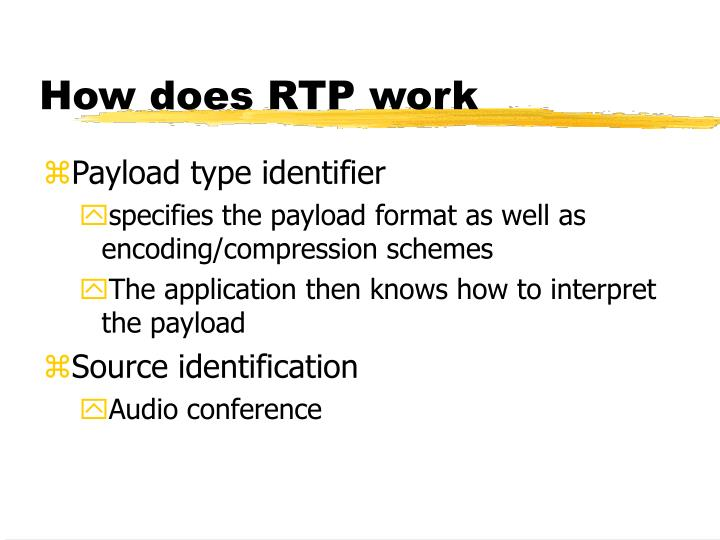 How does RTP work