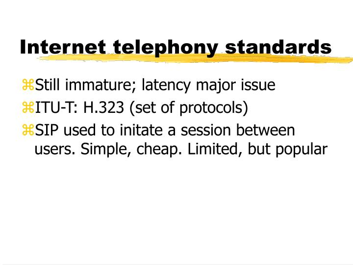 Internet telephony standards