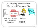 dictionary attacks on an encrypted password file
