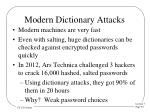 modern dictionary attacks