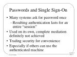 passwords and single sign on