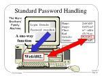 standard password handling