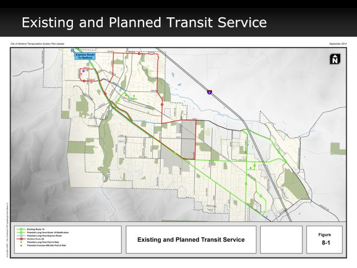 Existing and Planned Transit Service