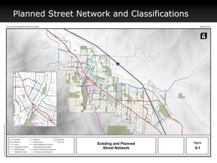 Planned Street Network and Classifications