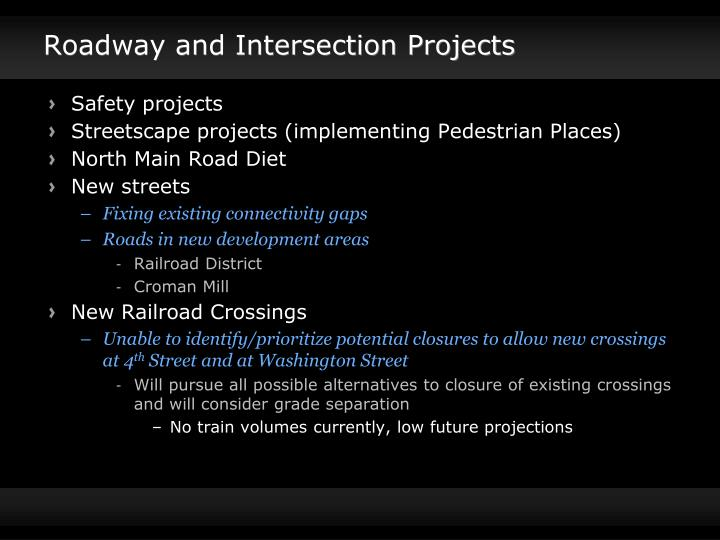 Roadway and Intersection Projects