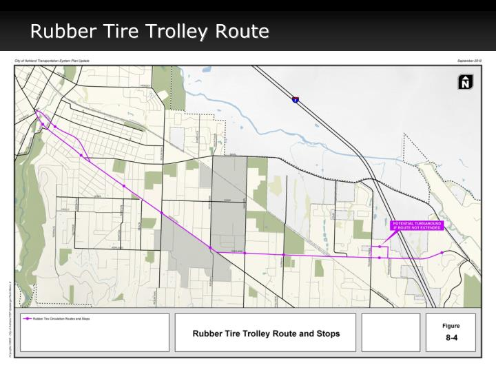 Rubber Tire Trolley Route