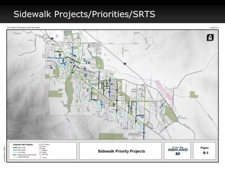 Sidewalk Projects/Priorities/SRTS