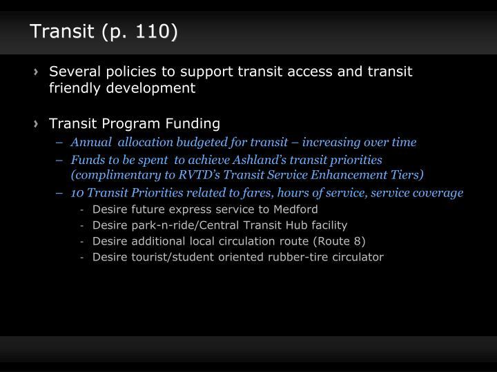 Transit (p. 110)