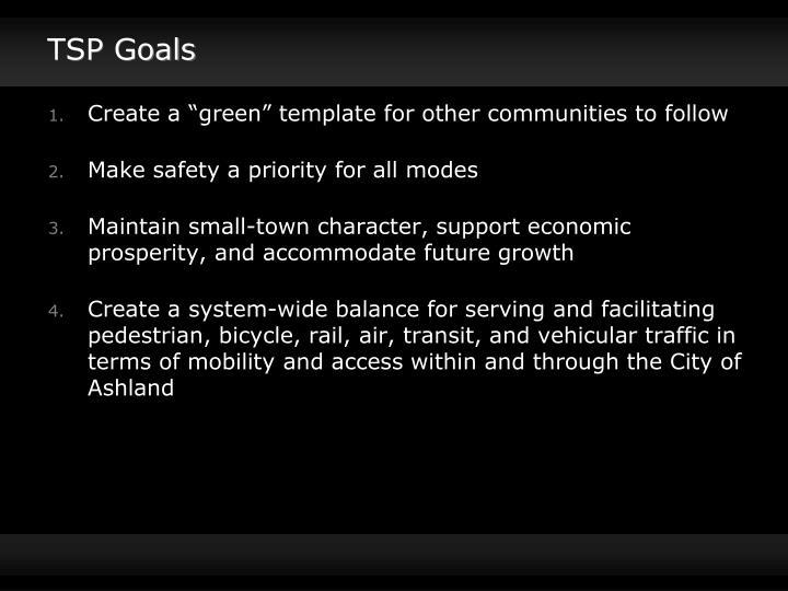 TSP Goals