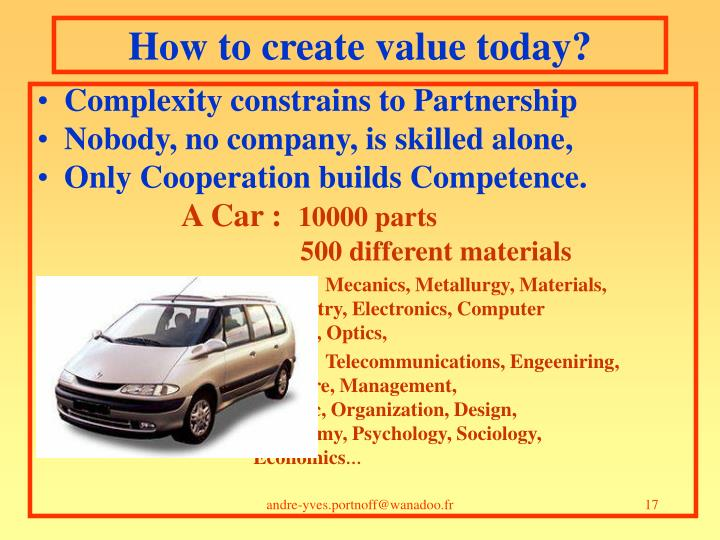 How to create value today?
