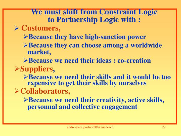 We must shift from Constraint Logic