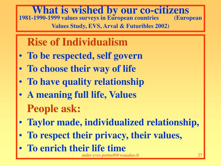 What is wished by our co-citizens