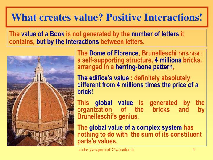What creates value? Positive Interactions!