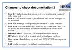 changes to check documentation 2