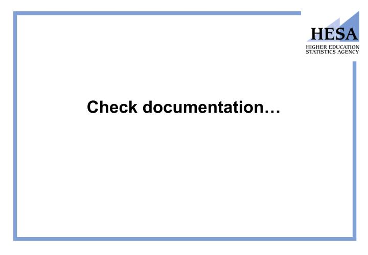 Check documentation…