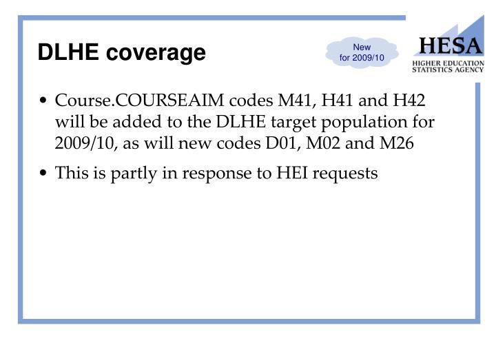 DLHE coverage