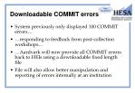 downloadable commit errors