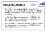 heses reconciliation