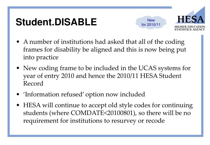 Student.DISABLE