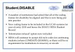 student disable