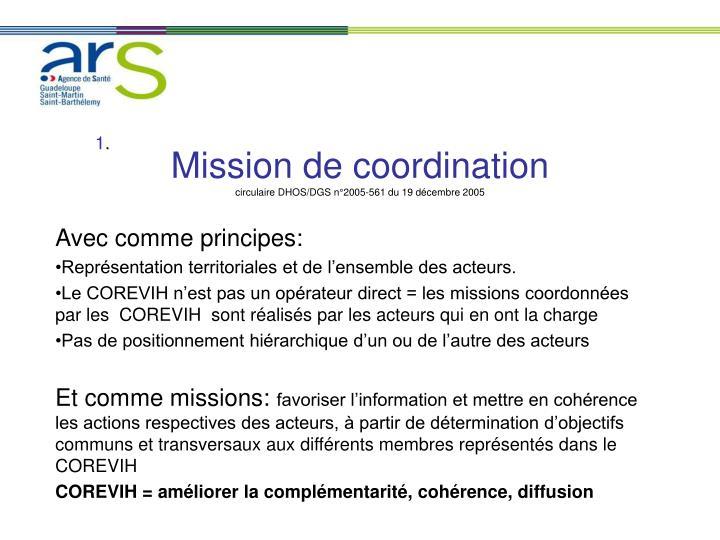 Mission de coordination