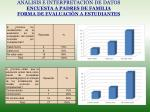 an lisis e interpretaci n de datos encuesta a padres de familia forma de evaluaci n a estudiantes