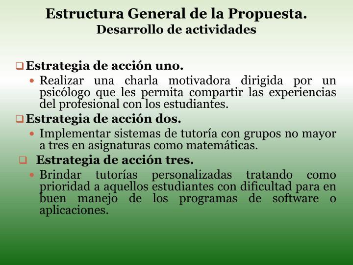 Estructura General de la Propuesta.