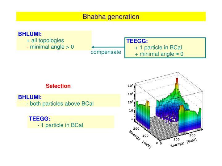Bhabha generation