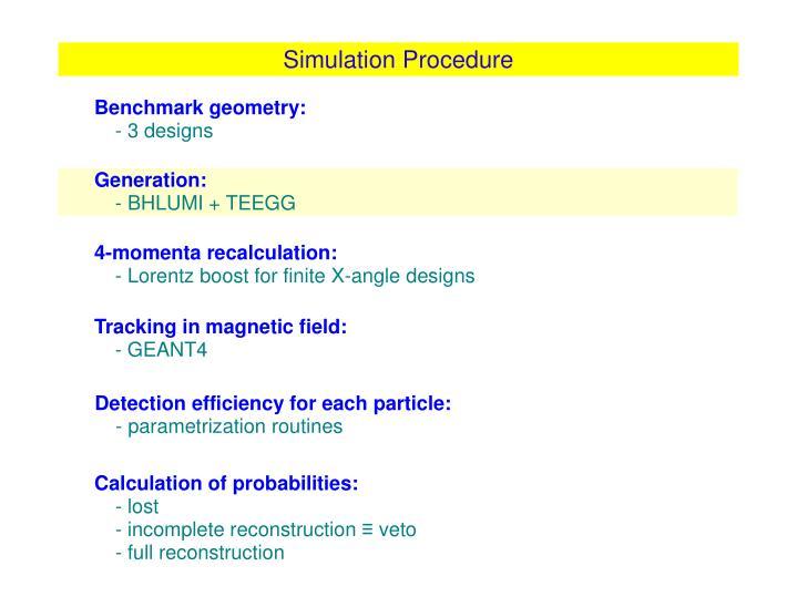 Simulation Procedure